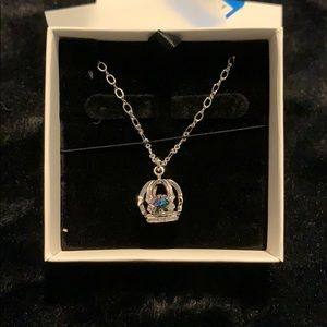 Crown necklace with Rainbow crystal -NWT